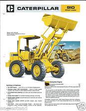 Equipment Brochure - Caterpillar - 910 - Wheel Loader - c1979 (E3073)