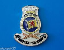 HMAS KANIMBLA (L51) LAPEL BADGE ENAMEL & GOLD PLATED 20MM HIGH, WITH PIN AND BUT