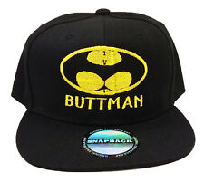 BUTTMAN Funny Spoof Parody Batman Snapback Cap Hat Halloween Party