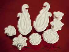 flower daffodil Impression decorating cutter Fondant Cake  Embosser icing 8 pcs
