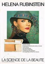 Publicité Advertising 1981 Cosmétique Maquillage Fond de Teint Helena Rubinstein