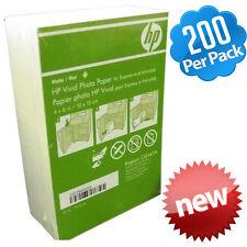 "HP Vivid 4"" x 6"" 10x15cm Photo Paper Matte 200-Sheets InkJet & Laser CG465A"