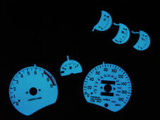 FREE SHIP 91-99 MITSUBISHI 3000GT VR4 TURBO 6 PIECES Glow Gauge FACE OVERLAY GTO