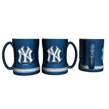 New York Yankees Coffee Mug Relief Sculpted Team Color Logo - 15 oz MLB NEW