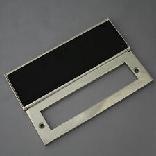 Internal Nickel Letterbox Tidy & Draught Excluder
