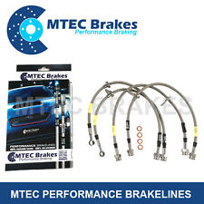 BMW 316-325 E30 ABS NOT 323 1982 - 1991 Zinc Plated MTEC Performance Brake Hoses