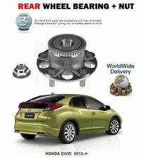 FOR HONDA CIVIC VTEC DTEC TD 2012-->NEW REAR WHEEL BEARING + NUT KIT
