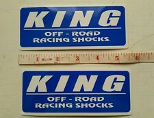 2 KING OFF-ROAD Shocks RACING STICKERS