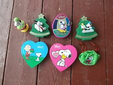 whitman snoopy candy boxes christmas, valentine, easter lot of 7 collectible