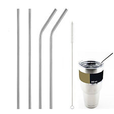 4 pcs Stainless Steel Drinking Straws for 30 Oz Yeti Rambler Tumbler Rtic Cups