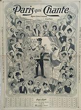 PARIS QUI CHANTE 1905 AFFICHE