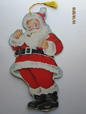 Vintage 14 inch  Die Cut Santa Double Sided Heavy Cardboard
