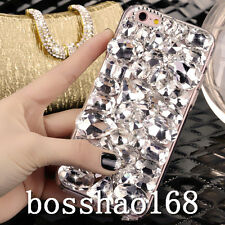 Bling Diamond Crystal Thin Clear Soft TPU Back Shell Case Cover For Samsung