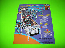 Williams SKYLAB Original 1974 NOS Flipper Pinball Machine Sales Flyer Sky Lab