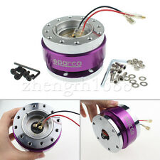 Purple Universal Steering Wheel Quick Release Hub Adapter Snap Off Boss Kit