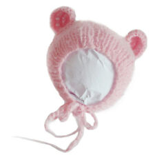 Baby Newborn Toddler Handmade Crochet Mohair Bonnet Hat Cap Photo Prop