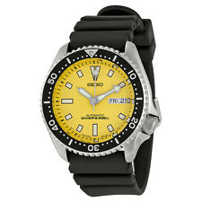 Seiko Yellow Dial Divers Mens Watch SKXA35