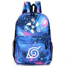 New Naruto Konoha Sharingan Kakashi Sasuke Casual luminous Backpack School Bag
