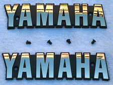 XS1100 Yamaha Gold OEM Fuel Gas Tank Badges-Emblems-Decals & Screws-XS750_XS850