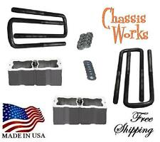 "1995.5-2014 Tacoma 2000-2014 Tundra 2"" Lift Blocks Sqrd U-Bolts Lift Kit"