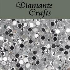 1000 x 3mm Clear Diamante Loose Flat Back Rhinestone Nail Body Art Vajazzle Gems