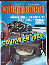 ECHAPPEMENT N°154 (août 1981) Golf GTI 16 S - Golf Turbo - BMW Alpina - Rancho