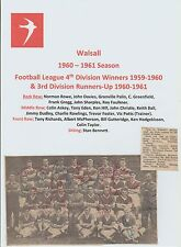 Walsall 1960-1961 rara mano originale firmato TEAM GROUP X 22 firme
