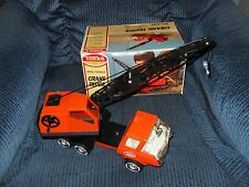 LOOK! Vintage, MINI-TONKA- Orange Crane Truck #1099 with Box !!!!-WQW!
