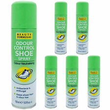 3XBEAUTY FORMULAS SHOE FOOT ODOUR CONTROL SPRAY ANTIBACTERIAL ANTIFUNGAL 150ML
