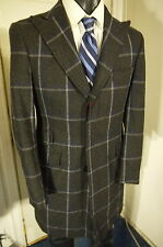 PHINEAS COLE SIZE 36R DARK GRAY PLAID 3 BUTTON COAT