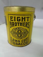 VINTAGE ADVERTISING EIGHT BROTHERS TOBACCO CANISTER TIN PAIL 736-W