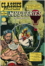Classics Illustrated #40 Mysteries, HRN 62, Vfn