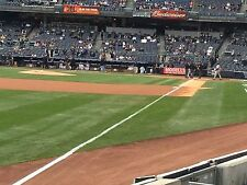 4 Front Row Field Level Section 130 New York Yankees Tickets 9/15 v Baltimore
