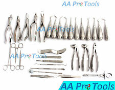 AA Pro: 29 Pcs Oral Dental Extraction Surgery Extracting Elevators Forceps Tools