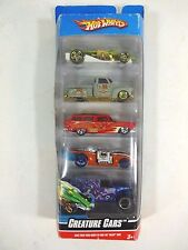 2009 Hot Wheels - Halloween Creature Cars 5 Car Gift Pack -1:64 Diecast Toy Cars