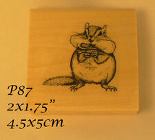 P87 Chipmunk rubber stamp WM