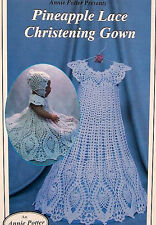 Crochet  Pineapple Lace Christening Gown  Original By Annie