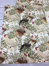 Chicken Rooster Hens Curtains Valance Windows Chicks Classic Tan Yellow Red 3 pc