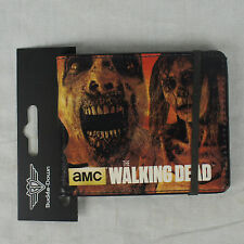 Authentic AMC THE WALKING DEAD Tv Series Zombies Gas Mask Bifold Wallet NEW