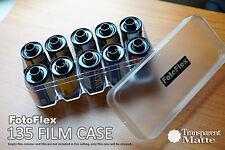 FotoFlex 35mm Film Case for 10 rolls 135 hard plastic Transparent Matte