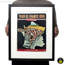 1958 Tour de France Magazine Cover Art Retro Vintage Cycling Velo Poster Print