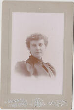 Victorian Woman By Moores Studio Rutland V.T.  CABINET PHOTO !!! WOW