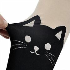 NEW Cat Women Gipsy Mock Knee Tights Pant Tattoo Pantyhose Socks Stockings UK