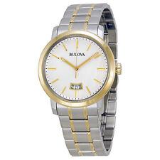 Bulova Dress Silver Dial Two-tone Mens Watch 98B214