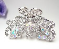 Fashion Whites Bridal Austrian Crystal Metal Roses hair claws clips pins Jewelry