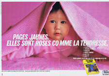 PUBLICITE ADVERTISING 094 1989 FRANCE TELECOM les pages jaunes