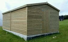 14 x 10 19mm Tanalised & Pressure Treated T&G Apex workshop Shed