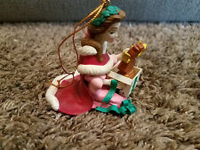 Grolier Disney Belle and Cogsworth Ornament Beauty and The Beast DCO Christmas