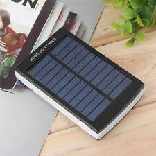 Nera 50000mAh alta capacità Solare Caricabatterie doppia USB Esterno