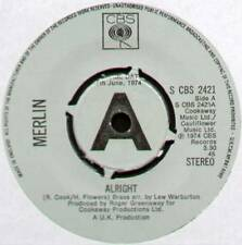 "[COOK / GREENAWAY] MERLIN ~ ALRIGHT / PICTURES IN MY MIND ~ 1974 UK ""PROMO"" 7"""